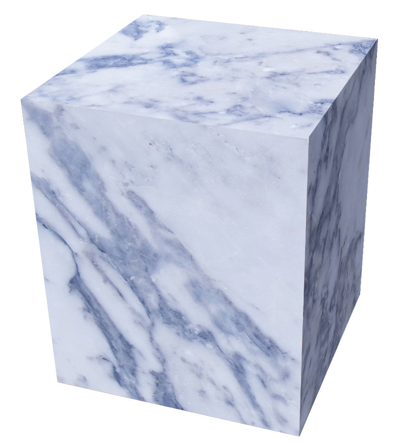 blue marble cube