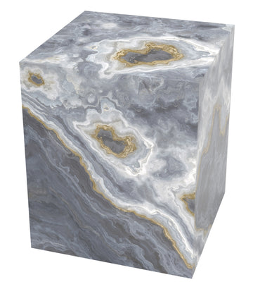 Grey Marble Cube