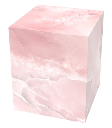 Pink Marble Cube