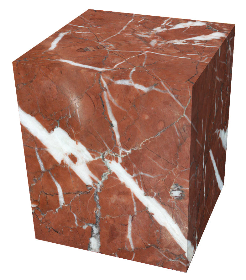 Red marble cube