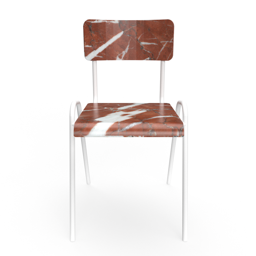 Red marble Chair