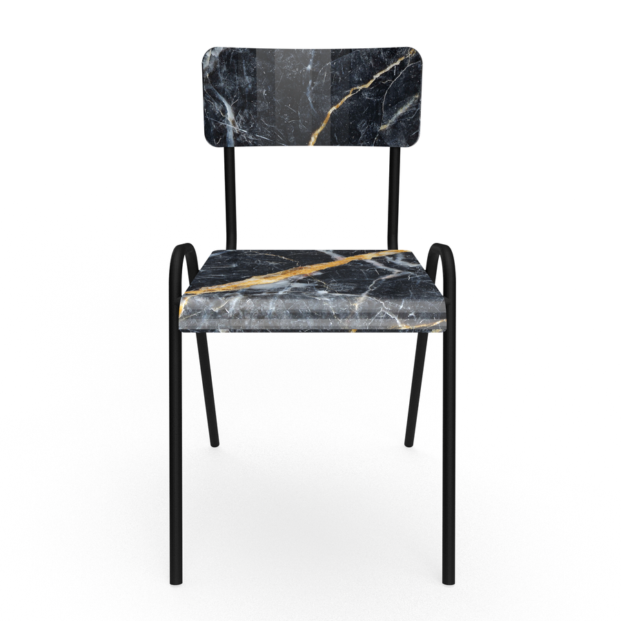 Dark marble gold Chair