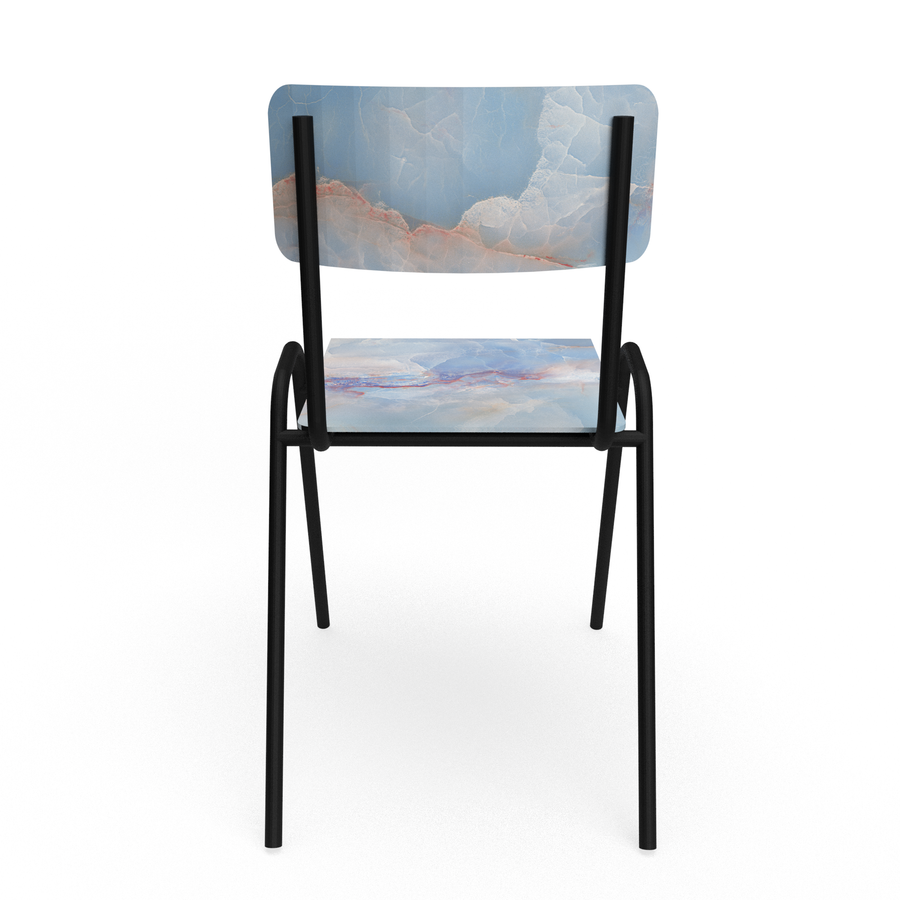 Blue marble Chair