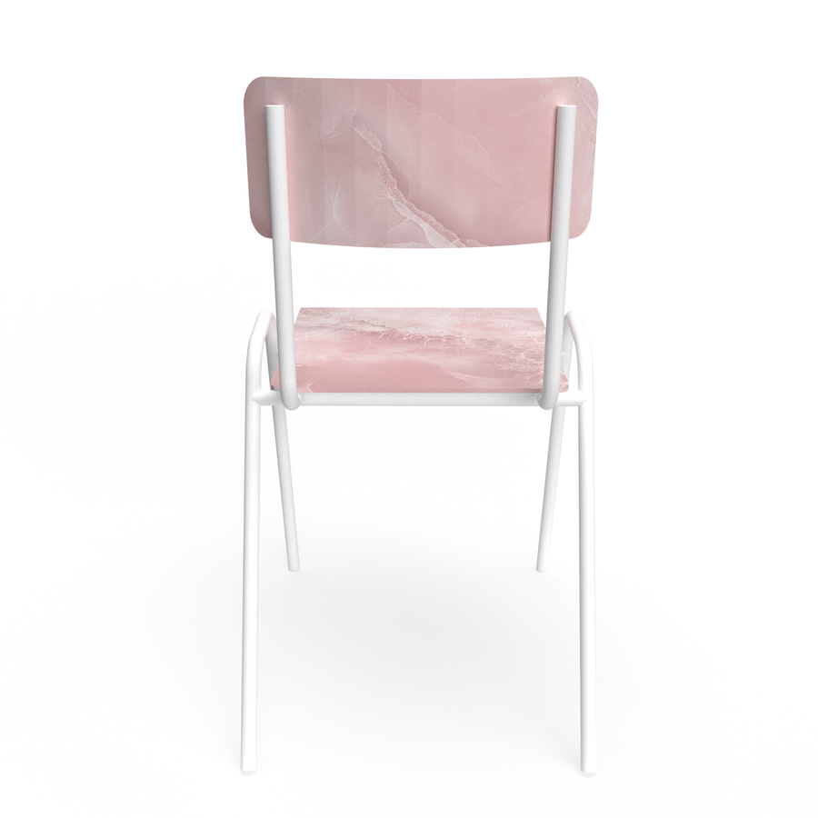 Pink marble Chair