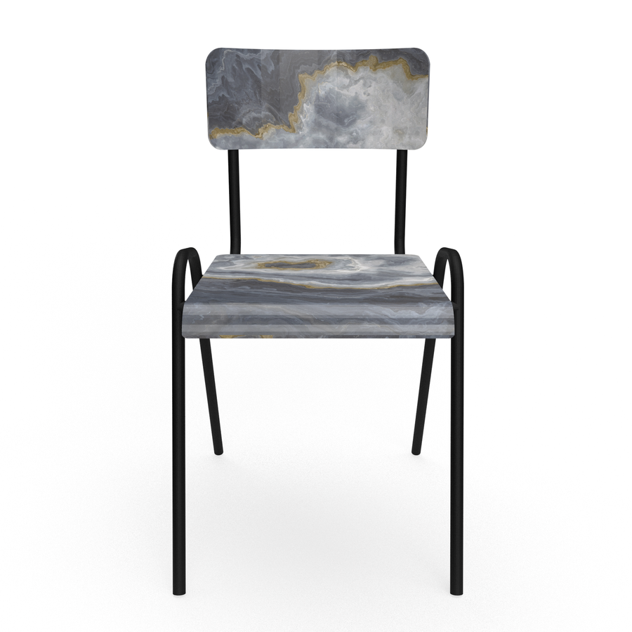 Grey marble Chair