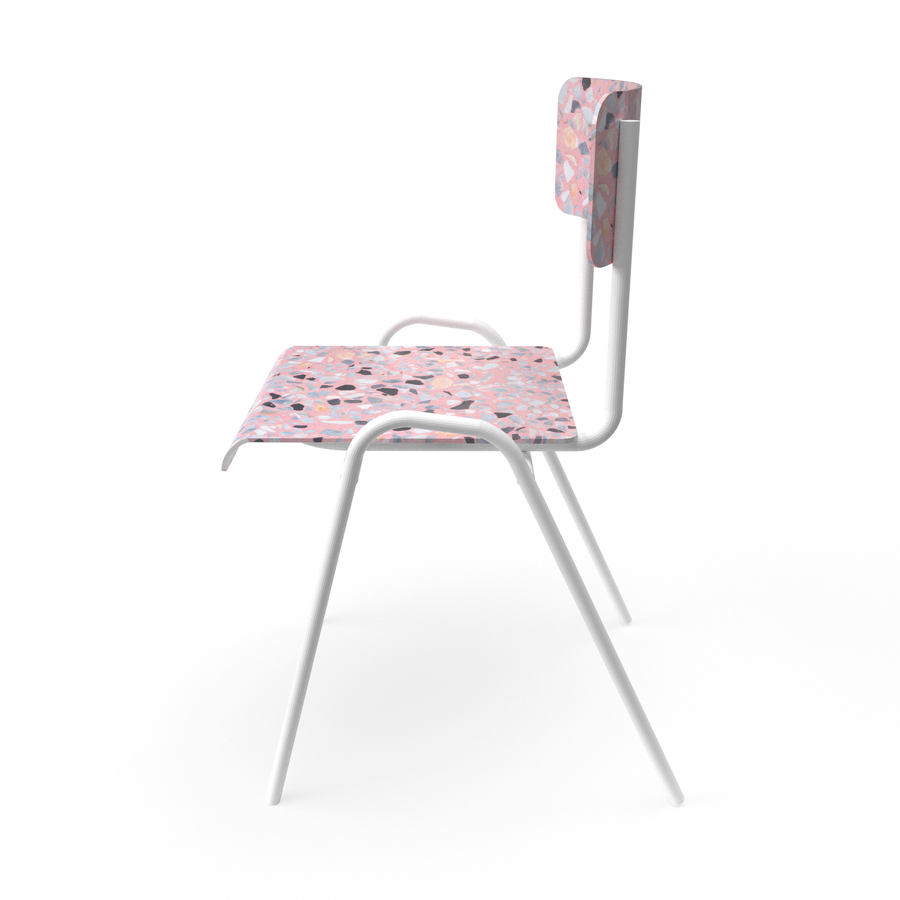 Terrazzo pink Chair