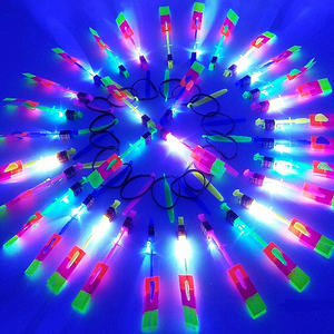 💥20 pcs-only $1.29 each💥Amazing Rocket Slingshot LED Helicopters