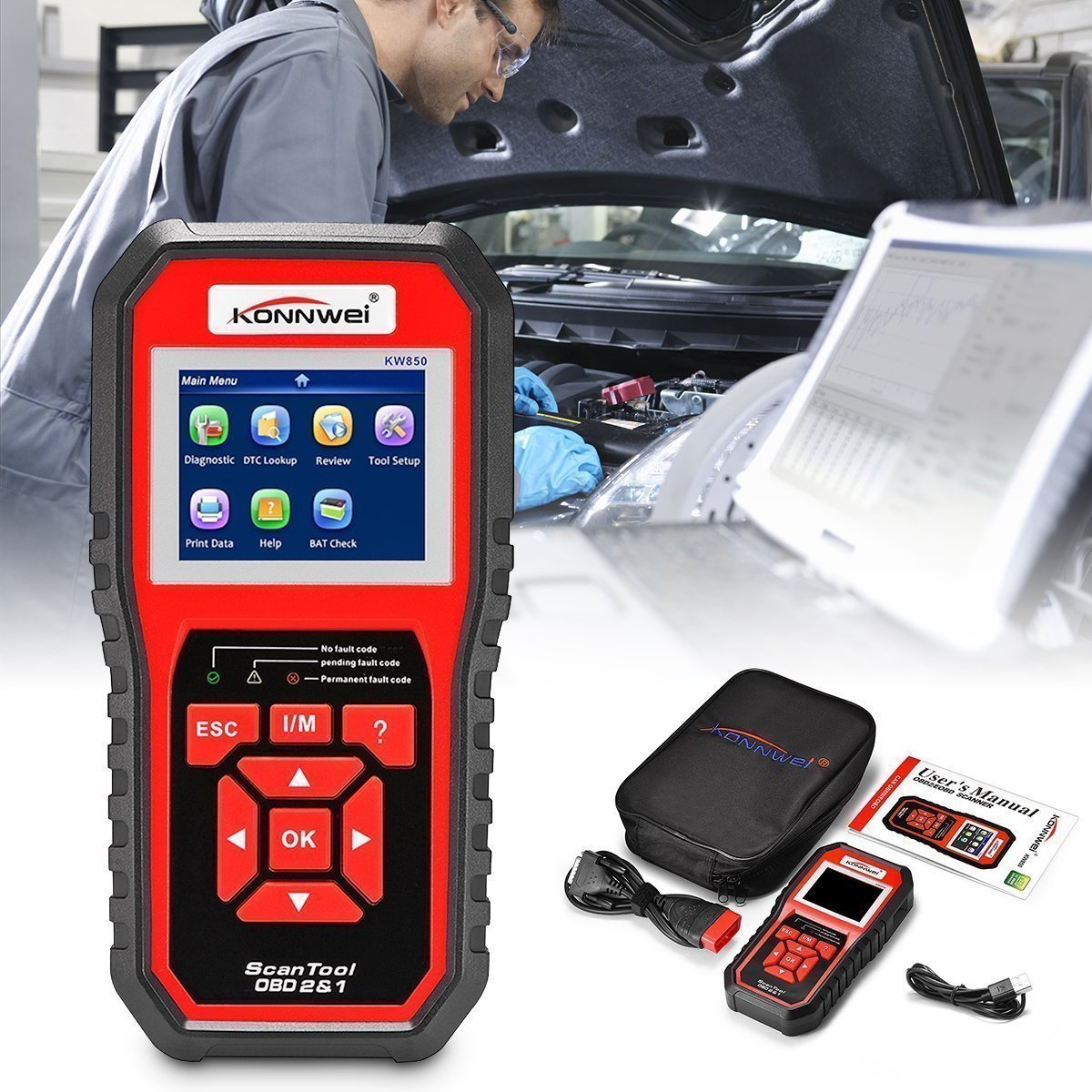 🔥50%OFF🔥Professional OBD2 Scanner Premium Grade Diagnostic Tool