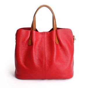 🔥Hot-Sell🔥 Two In One Leather Shopper Tote Bag
