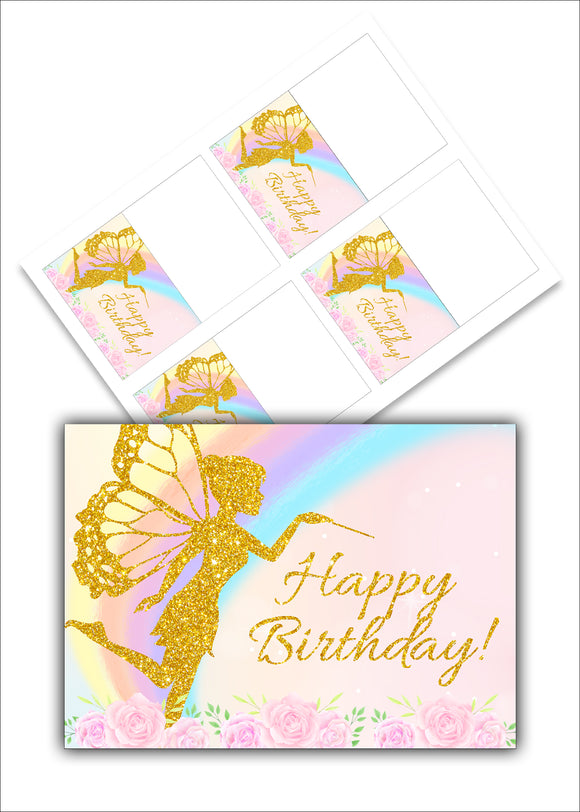 Fairy birthday food labels