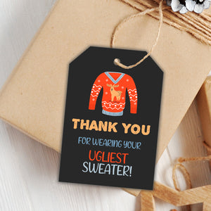 Ugly Sweater favor tags