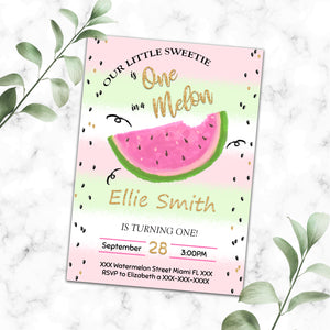 Watermelon birthday invitation