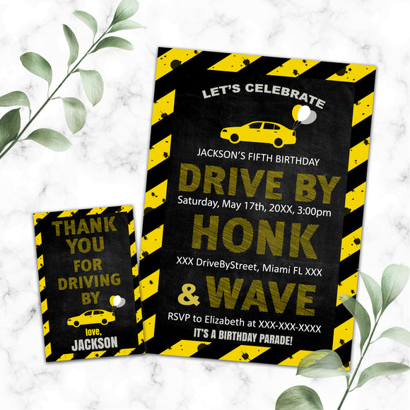 Drive By Birthday Parade Invitations