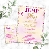 Jump birthday invitation