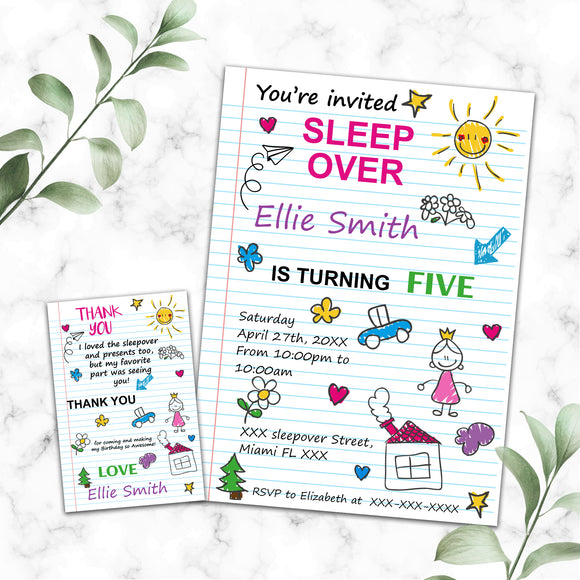 Slumber birthday invitation