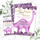 Dinosaur birthday invitation