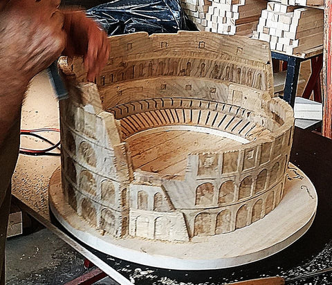 Roman Colosseum Hand carved