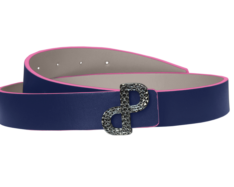 CORNELIA Reversible Belt Oyster/Navy