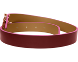 Forever Luxury is unmissed with the CORNELIA reversible belt in Navy/Bordeaux