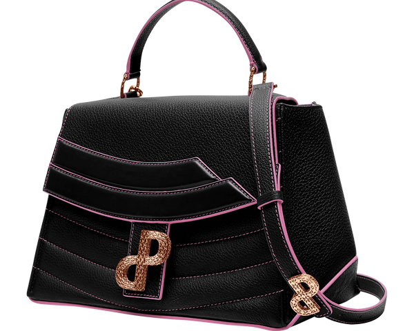 A multi-look bag in Black lends itself to be worn throughout the day and evening