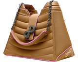 An unprecedented tote bag in 3D hardware-A regal statement piece-All MADE IN ITALY