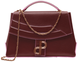 The LIVIA bag in signature Trapeze silhouette in Bordeaux-All MADE IN ITALY