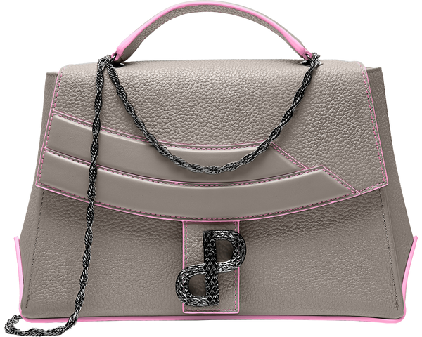 The LIVIA Messenger, a statement of Forever Luxury.The 3D Forever Logo is individually crafted, lightweight, hardware accent that adorns the push turn-lock clasp and inner zipper, and it decorates the footer as embroidery - All MADE IN ITALY