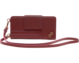thè CLAUDIA Is a ladies quintessential, multifunctional, 2 sided, mobile & wallet crossbody. it lends itself to be worn hands-free on the neck, or used as a classic wallet that can be comfortably stored inside your bag. Each bag is decorated by a 3D Forever Logo hardware