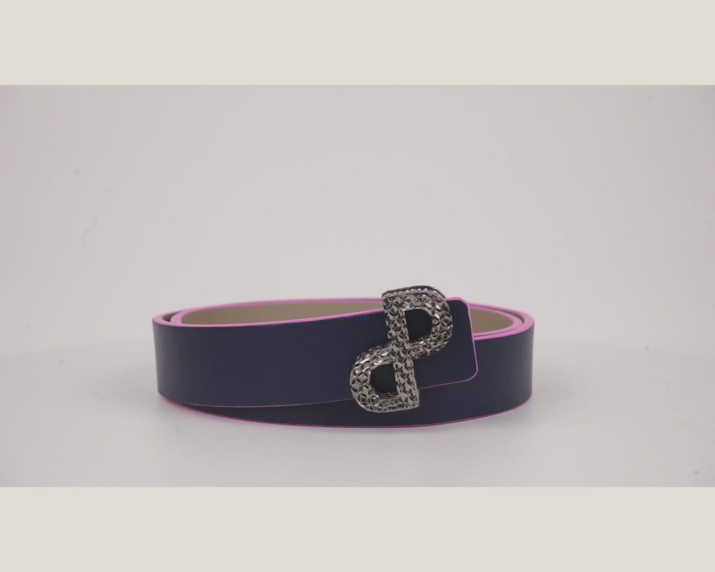The CORNELIA reversible belt is the first ever belt created in 3D buckles-All MADE IN ITAL