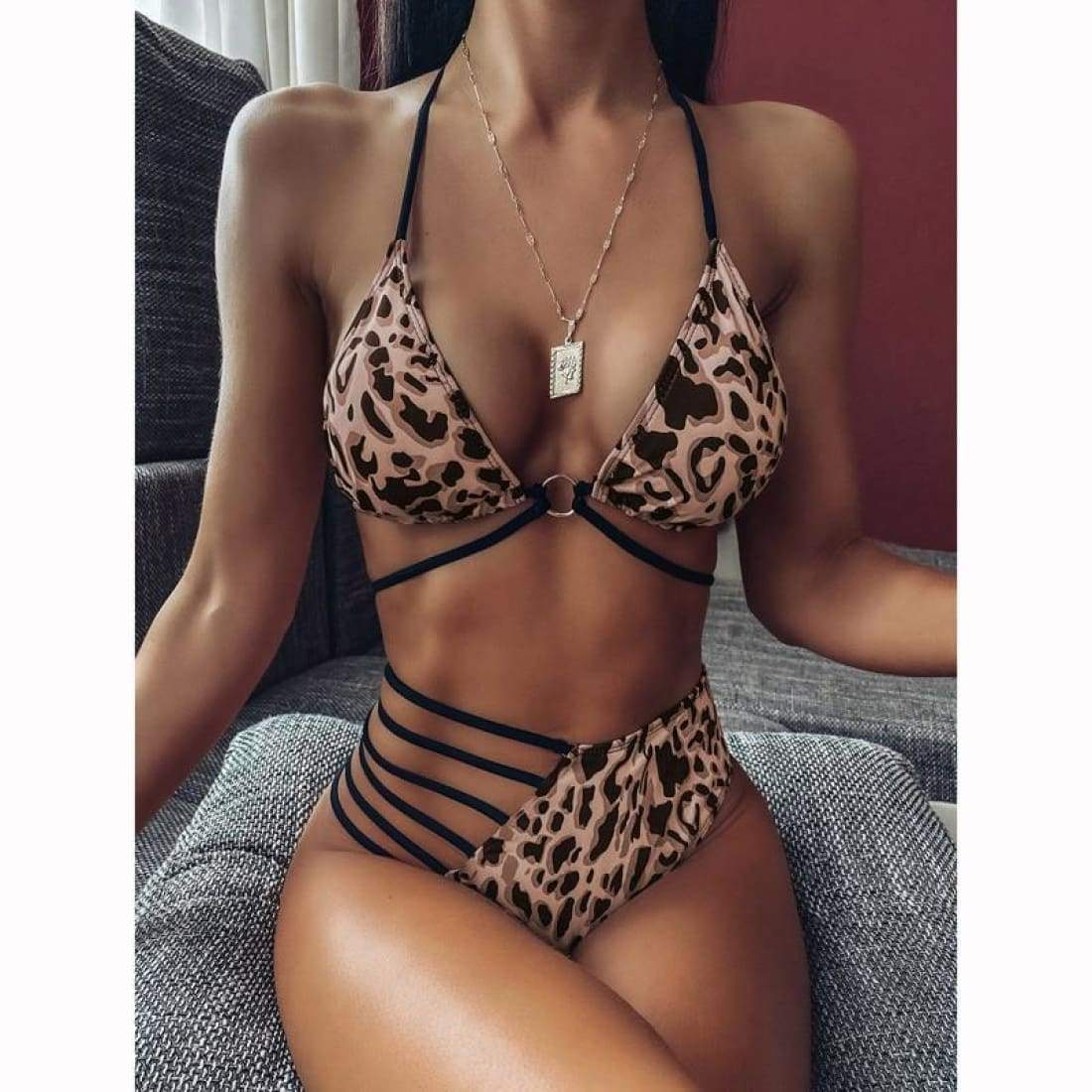 Beach breeze bikini - Leo / S - swimsuit swimsuits bikini bikinis bathing suit bathing suits swimwear swimming suits