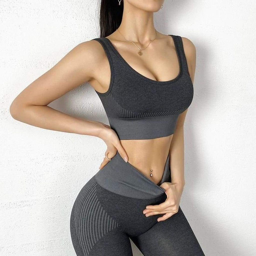 Beach running set (2-Piece) - Dark Gray / S - Top