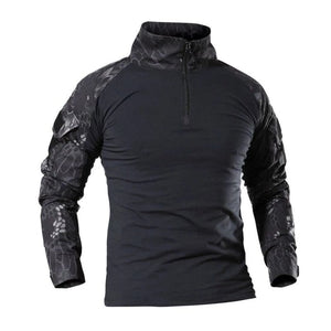 Camouflage Tactical Shirt - Black Snake / XXS