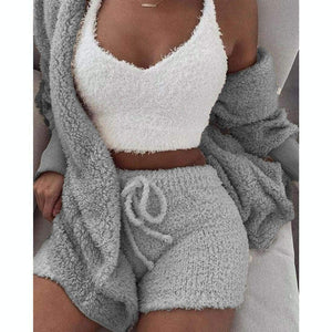 Cozy knit set (3 Pieces) - Cozy Gray / S