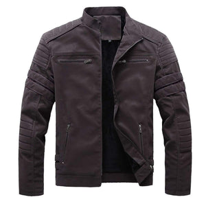 Drifter leather jacket - Coffee / S