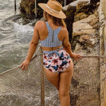 Floral one-piece swimsuit - swimsuit swimsuits bikini bikinis bathing suit bathing suits swimwear swimming suits