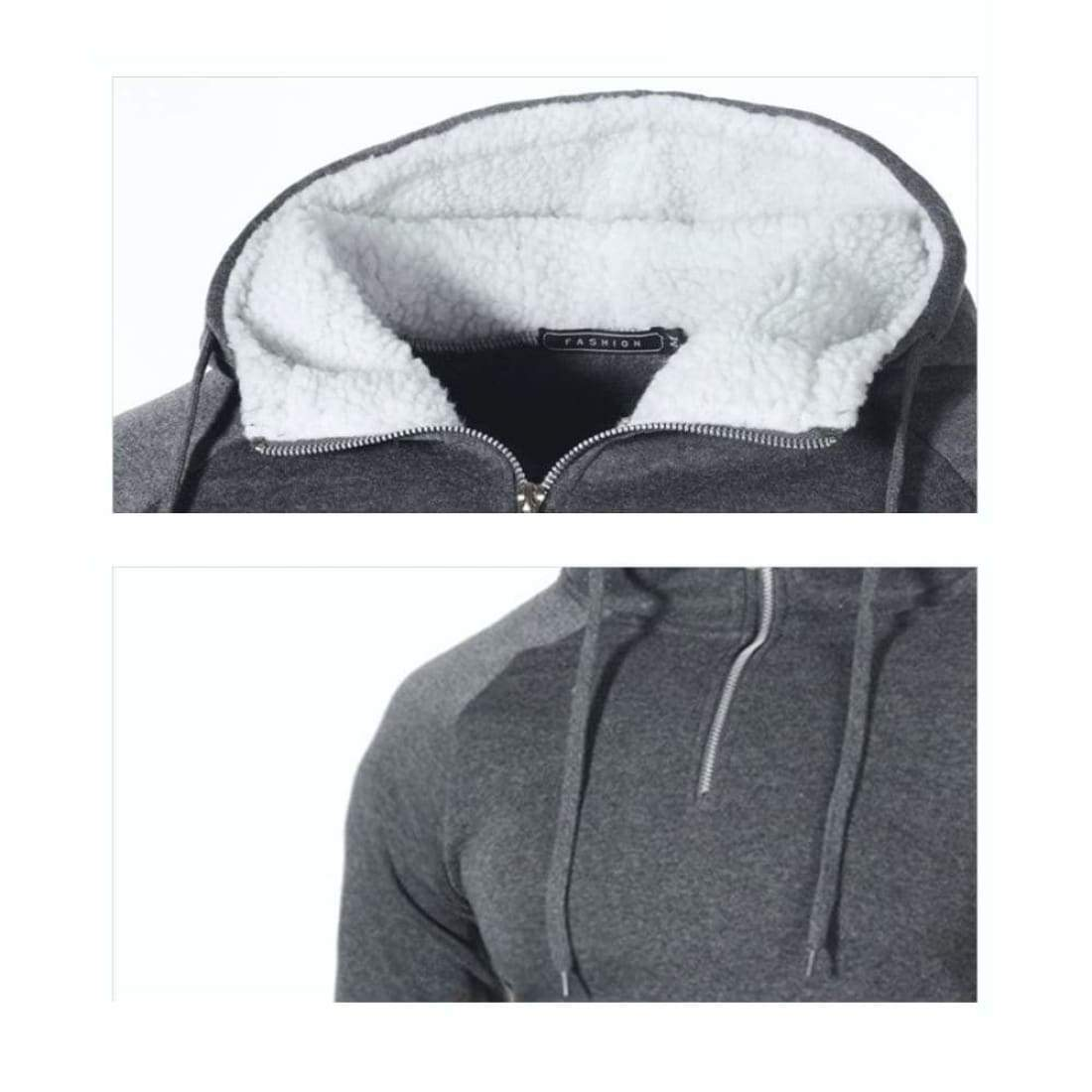 Half-zip hoodie with side patch