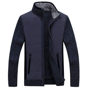 Knitted fleece jacket - Navy / S