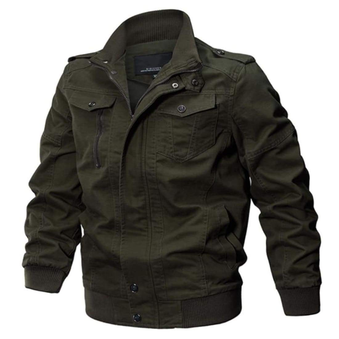 Pilot Cargo Jacket - Army green / XXS