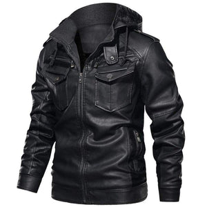 Racer leather jacket - Black / S