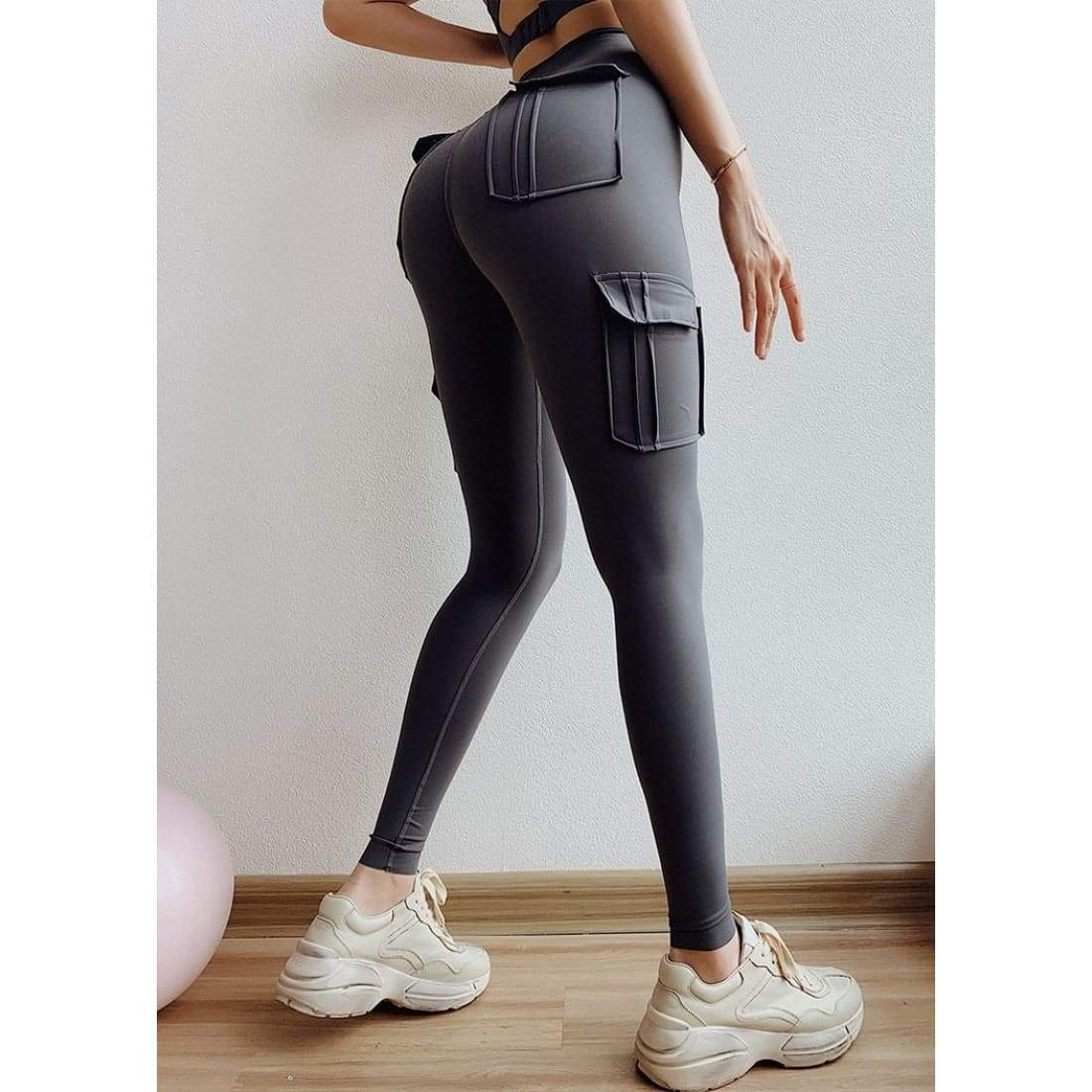 Sculpt cargo leggings - M / Gray - Pants