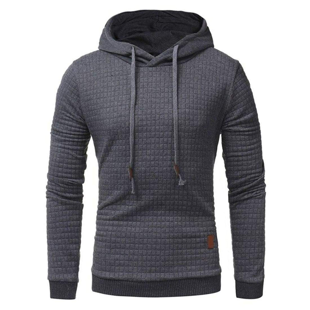 Slim-fit casual hoodie - Dark Grey / S
