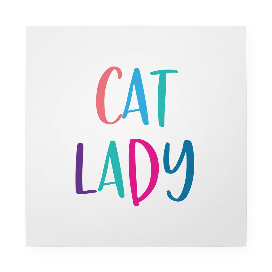 "Cat Lady 10"" x 10"" Art Print"