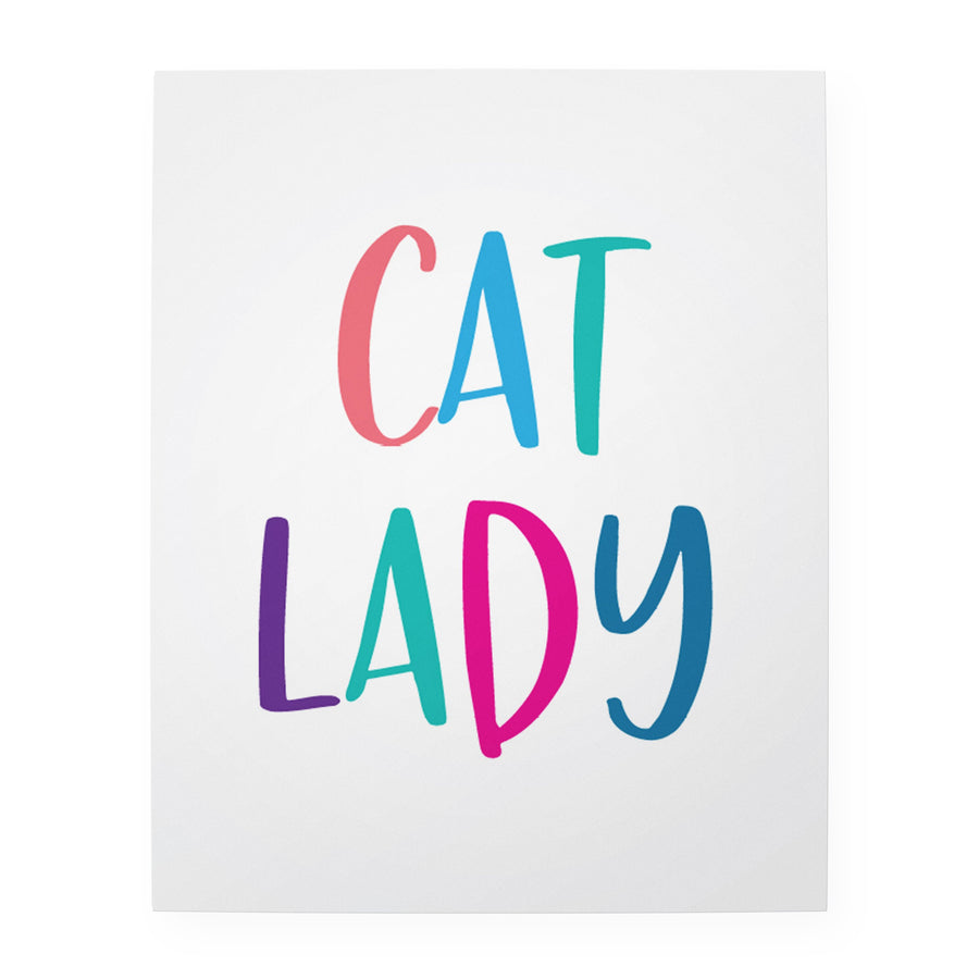 "Cat Lady 8"" x 10"" Art Print"