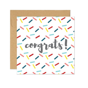 Congrats with Sprinkles Card