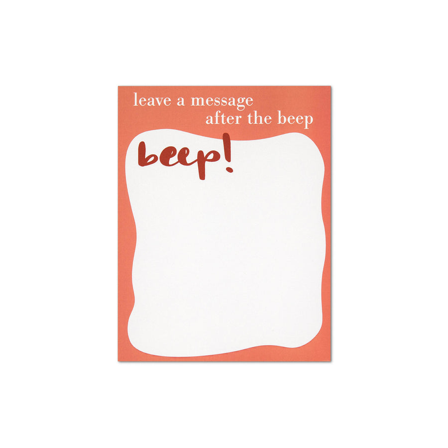 Leave a Message After the Beep Notepad