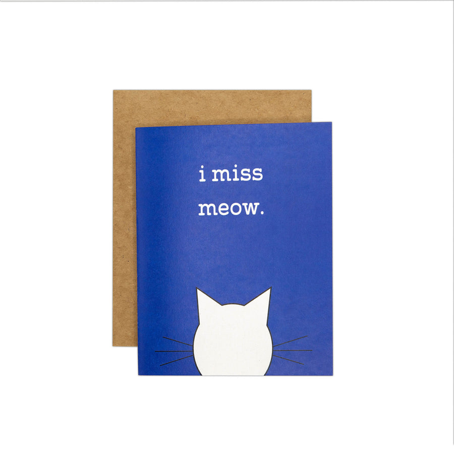 I Miss Meow Card