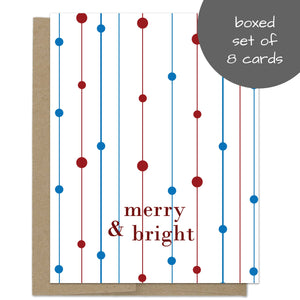 Merry and Bright Lights Christmas Card Box Set