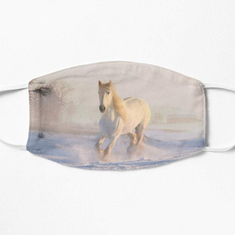 Beautiful white horse face mask
