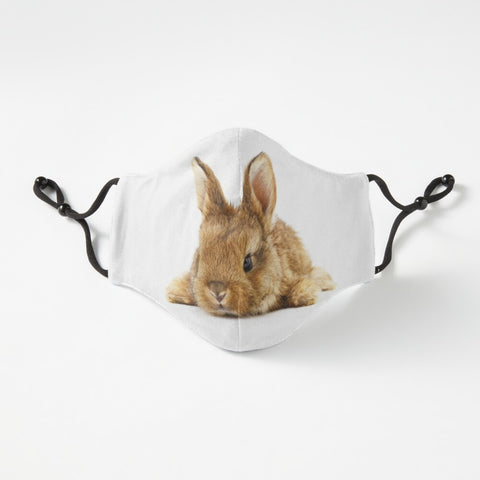 Bunny cute fitted face mask with nose wire and adjustable straps