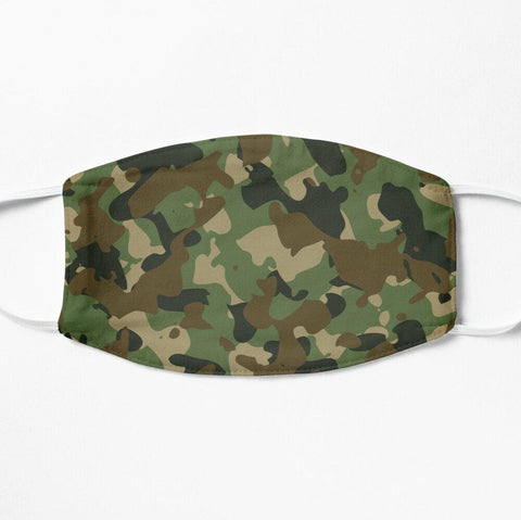 Camouflage green camo face mask cover
